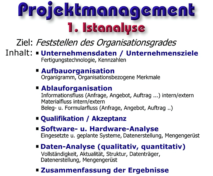 Projektmanagement - edvSoft - EDV - IT - helmut ebner - Consulting ...